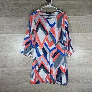 Hourglass Lilly Striped ¾  Sleeved Dress Small